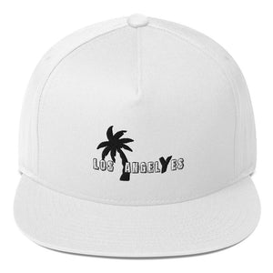 White, Los Angeles, Embroidered, Snapback, Hat, Unisex, Front