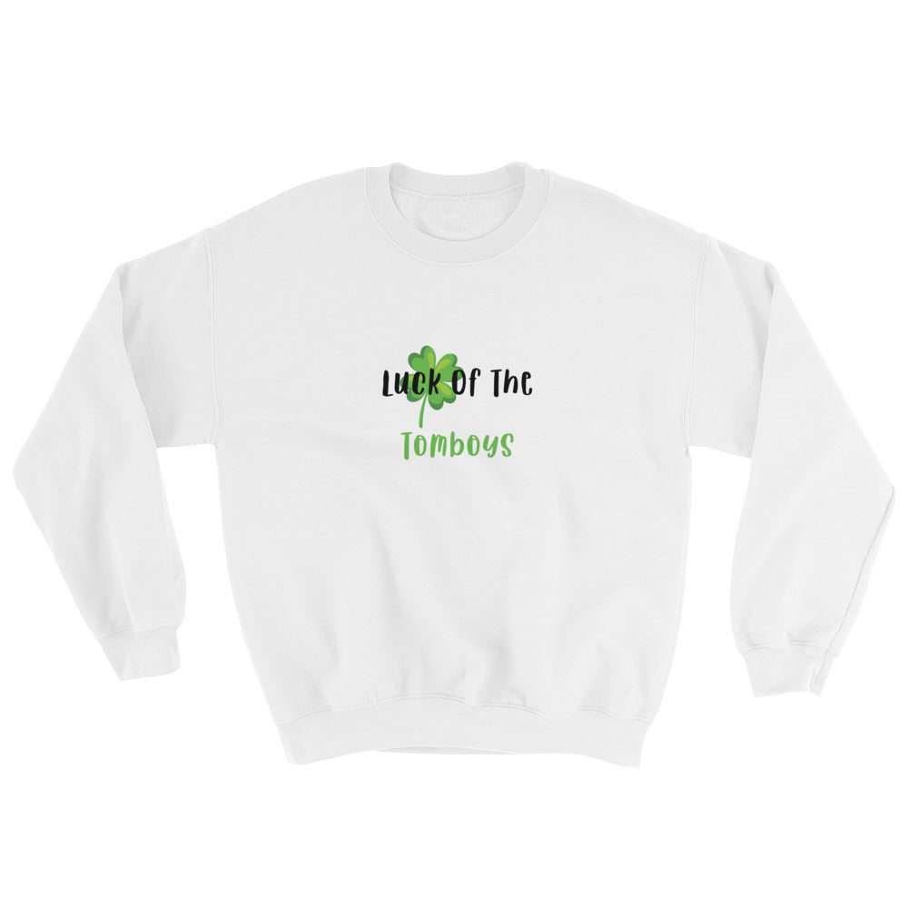 tomboy-sweatshirt-white-st-patricks-day-luck-of-the-tomboys