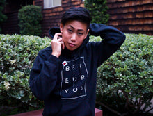 Load image into Gallery viewer, Tomboy-Style-Black-Hoodie-Los-Angeles-based-queer-Asian-LGBTQ-Tomboy-model-and-entrepreneur-Joss-TM