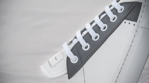 The X Sneaker - Definition of Casual Luxury and Clean, Versatile Design, close up product image, The X Sneakers on white background