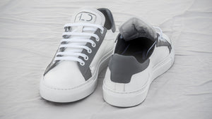 Tomboy-Style-Shoes-Sneakers-Low-Top-White-Sneakers-Gender-Neutral-Androgynous-Fashion-Front-and-Back-Detail