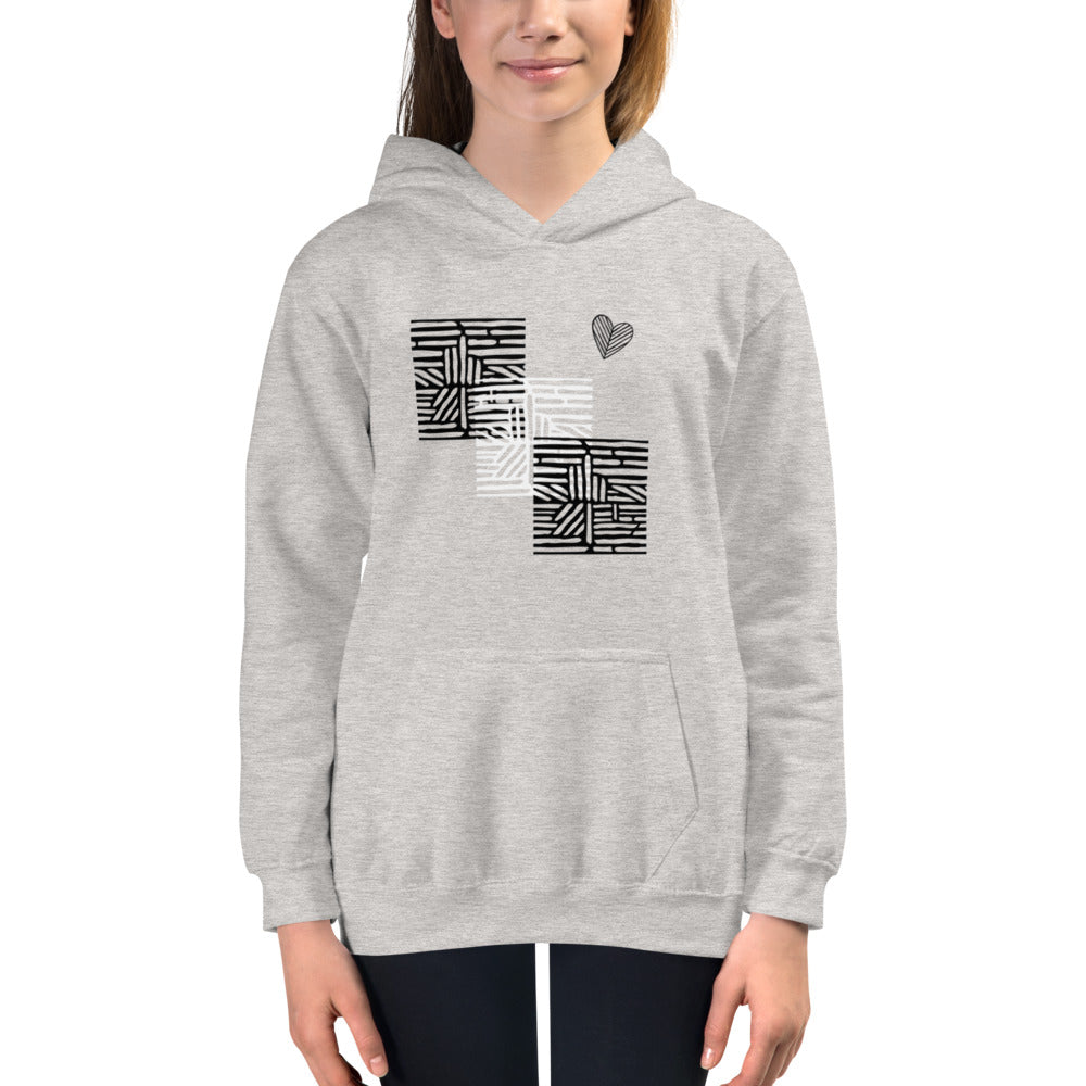 tomboy-hoodie-kids-follow-your-heart-maze-heather-grey-girl-model-1