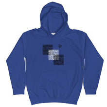 Load image into Gallery viewer, tomboy-hoodie-kids-follow-your-heart-maze-royal-blue-front