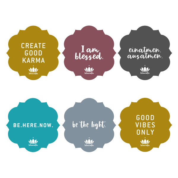 Yoga Mat Sticker Set