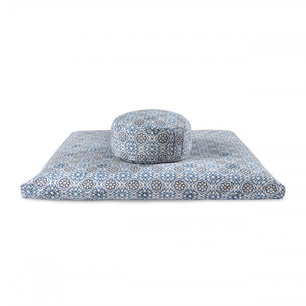 Set de méditation LOTUS Indigo Paisley