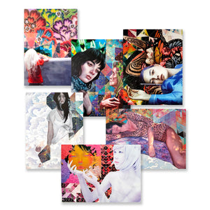 Set of first 6 Collage art Prints (Set #1) 8 x10