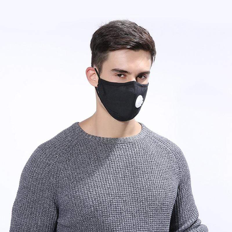 Accessories Black Anti-Pollution Dust Mask w/ Respirator