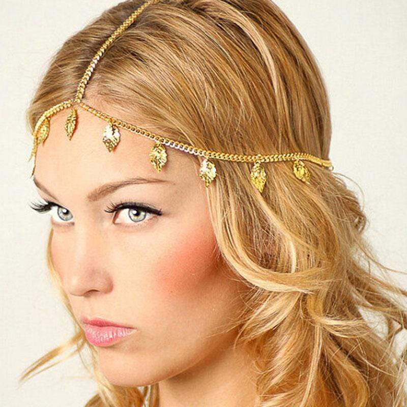 Accessories Boho Leaf Drop Head Chain