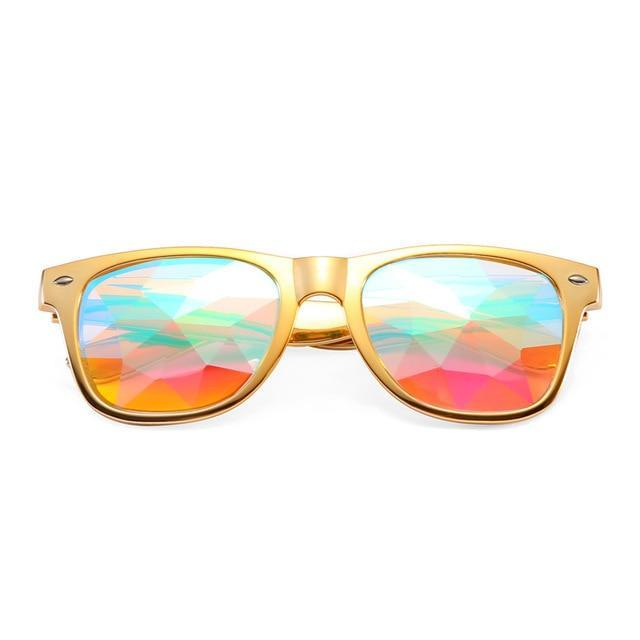 Accessories Gold Casual Kaleidoscope Glasses