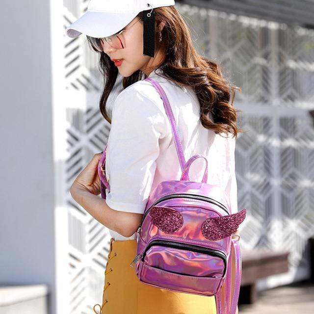 Accessories Small Holographic Backpack