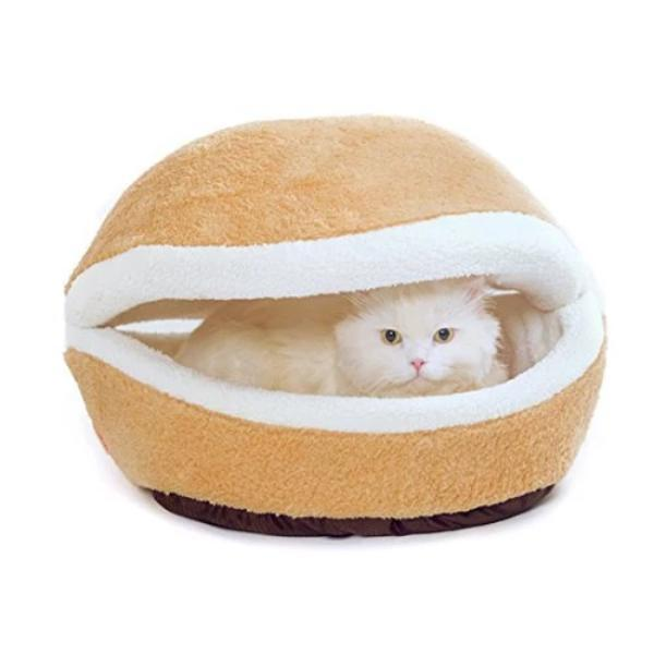 Good Finds Snuggle Shell - Hamburger Pet Bed