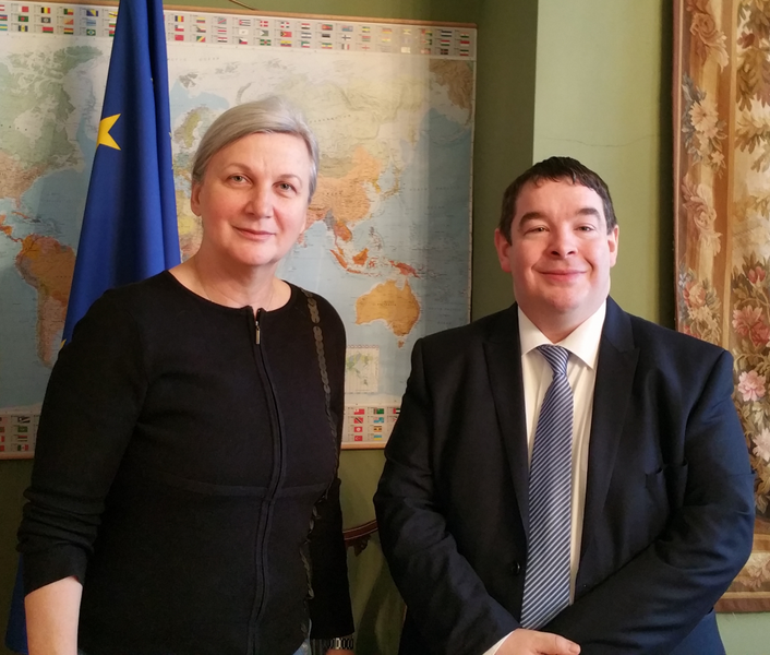 Audience with Romanian Ambassador to Ireland