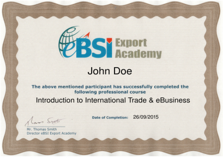 Sample Course Certificate