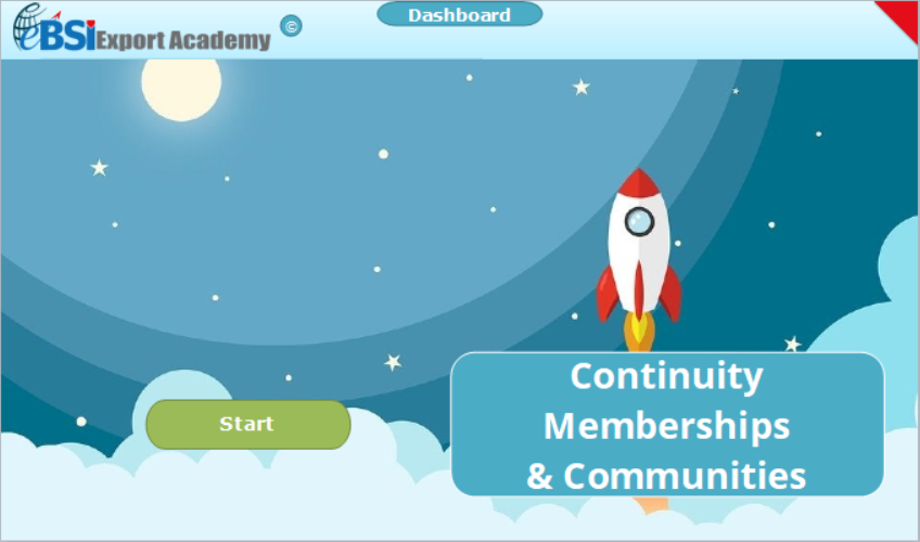 Continuity Memberships and Communities - eBSI Export Academy