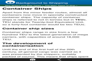 Background to Shipping