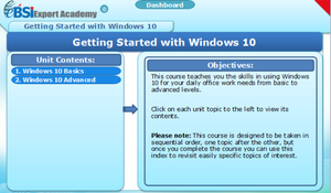 Getting Started with Windows 10 - eBSI Export Academy