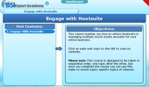 Engage with Hootsuite - eBSI Export Academy