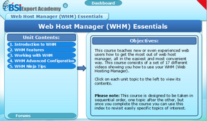 Web Host Manager (WHM) Essentials - eBSI Export Academy