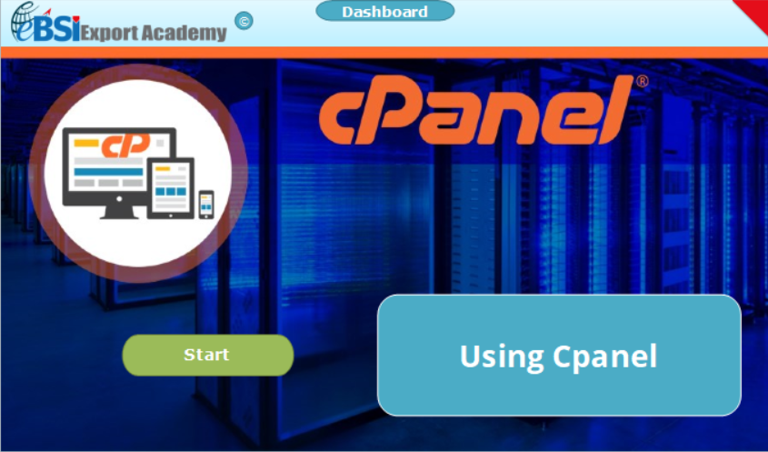 Using Cpanel - eBSI Export Academy