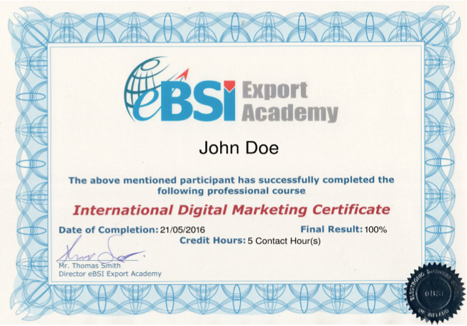 IDM - International Digital Marketing - eBSI Export Academy