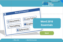 Load image into Gallery viewer, Word 2016 Essentials - eBSI Export Academy