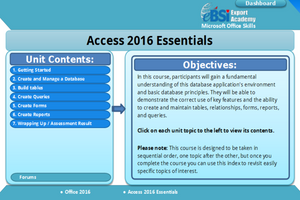 Access 2016 Essentials - eBSI Export Academy