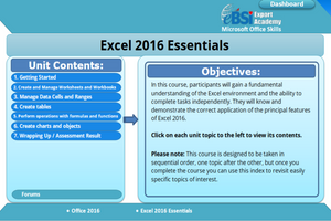 Excel 2016 Essentials