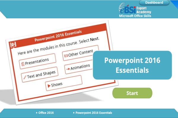 Powerpoint 2016 Essentials - eBSI Export Academy