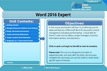 Load image into Gallery viewer, Word 2016 Expert - eBSI Export Academy