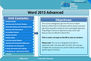 Word 2013 Advanced - eBSI Export Academy