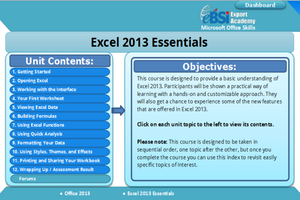 Excel 2013 Essentials - eBSI Export Academy
