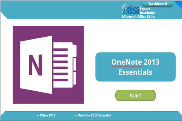OneNote 2013 Advanced - eBSI Export Academy