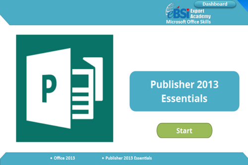 Publisher 2013 Essentials - eBSI Export Academy