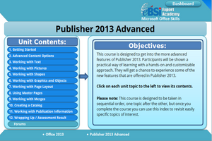 Publisher 2013 Advanced