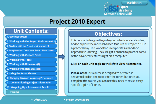 Project 2010 Expert