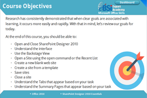 Sharepoint Designer 2010 Essentials - eBSI Export Academy