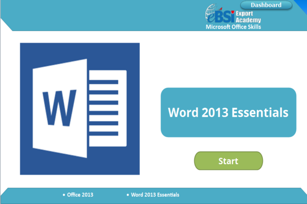 Word 2013 Essentials - eBSI Export Academy