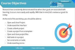 Project 2010 Essentials - eBSI Export Academy