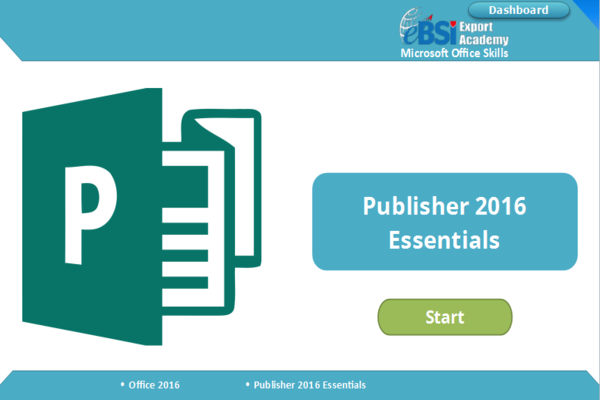 Publisher 2016 Essentials - eBSI Export Academy