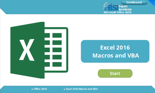 Excel 2016 Macros and VBA - eBSI Export Academy