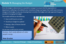 Load image into Gallery viewer, Budgets and Financial Analysis - eBSI Export Academy