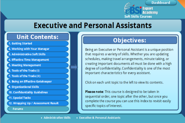 Executive and Personal Assistants