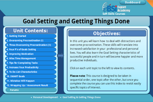 Goal Setting and Getting Things Done - eBSI Export Academy