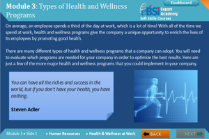 Health and Wellness at Work - eBSI Export Academy