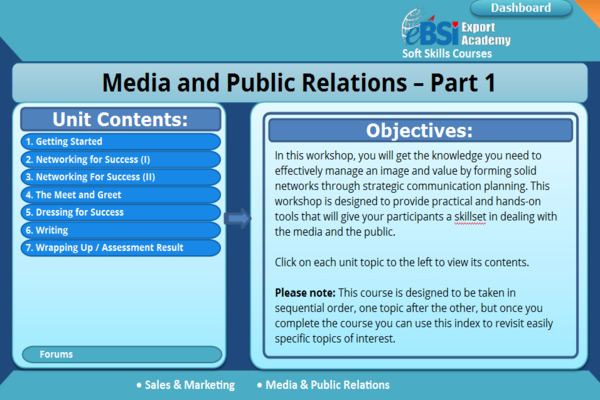 Media and Public Relations