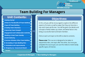 Team Building For Managers