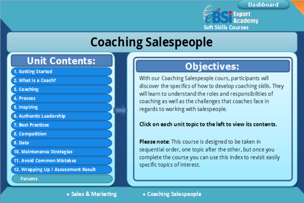 Coaching Salespeople