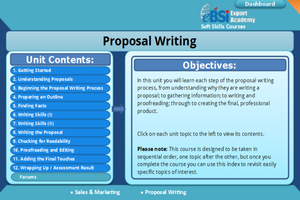 Proposal Writing - eBSI Export Academy