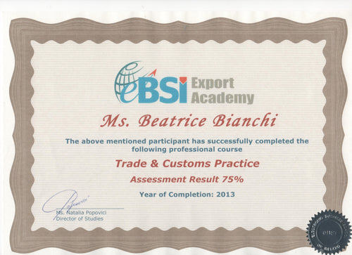 Certificate Issuing Fee - eBSI Export Academy