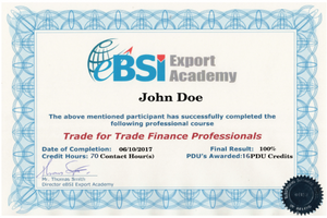 Diploma in Trade for Trade Finance Professionals - eBSI Export Academy